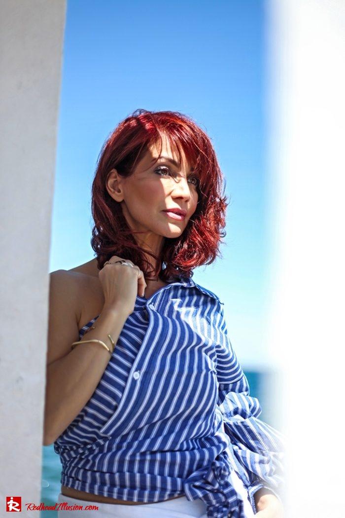 Redhead Illusion - Fashion Blog by Menia - Editorial - Deconstruction - Shein Shirt-04