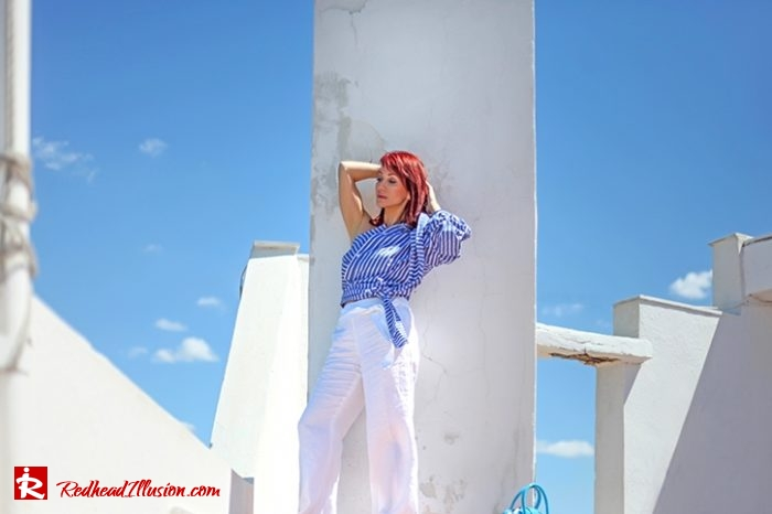 Redhead Illusion - Fashion Blog by Menia - Editorial - Deconstruction - Shein Shirt-05