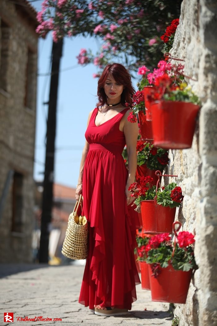 Redhead Illusion - Fashion Blog by Menia - Editorial - Ethereal Red - Shein Dress-02