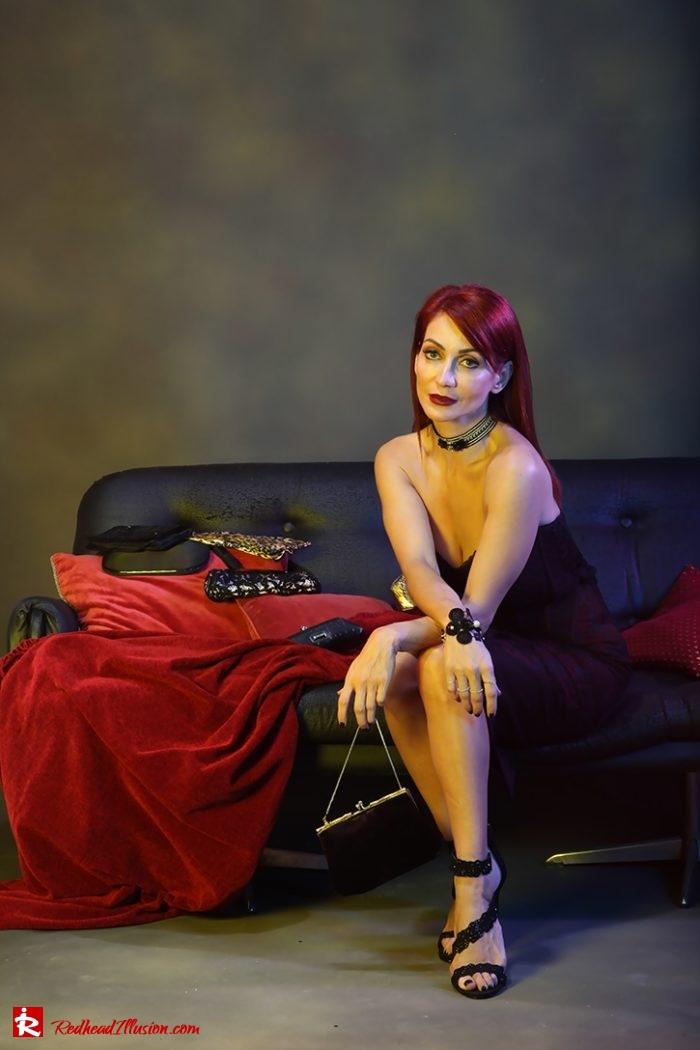 Redhead Illusion - Fashion Blog by Menia - Editorial - Festive Nights #1 - Karen Millen Dress-02