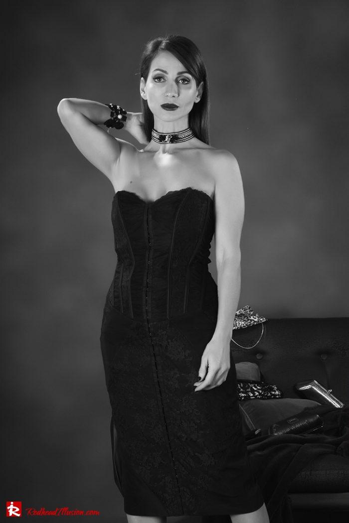 Redhead Illusion - Fashion Blog by Menia - Editorial - Festive Nights #1 - Karen Millen Dress-03