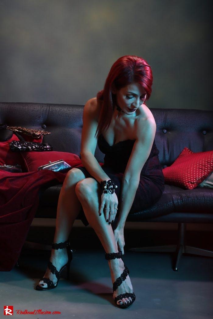 Redhead Illusion - Fashion Blog by Menia - Editorial - Festive Nights #1 - Karen Millen Dress-04