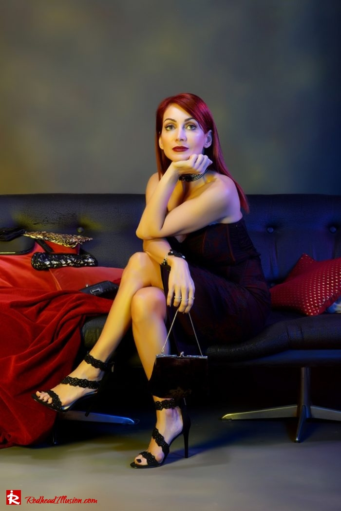 Redhead Illusion - Fashion Blog by Menia - Editorial - Festive Nights #1 - Karen Millen Dress-05