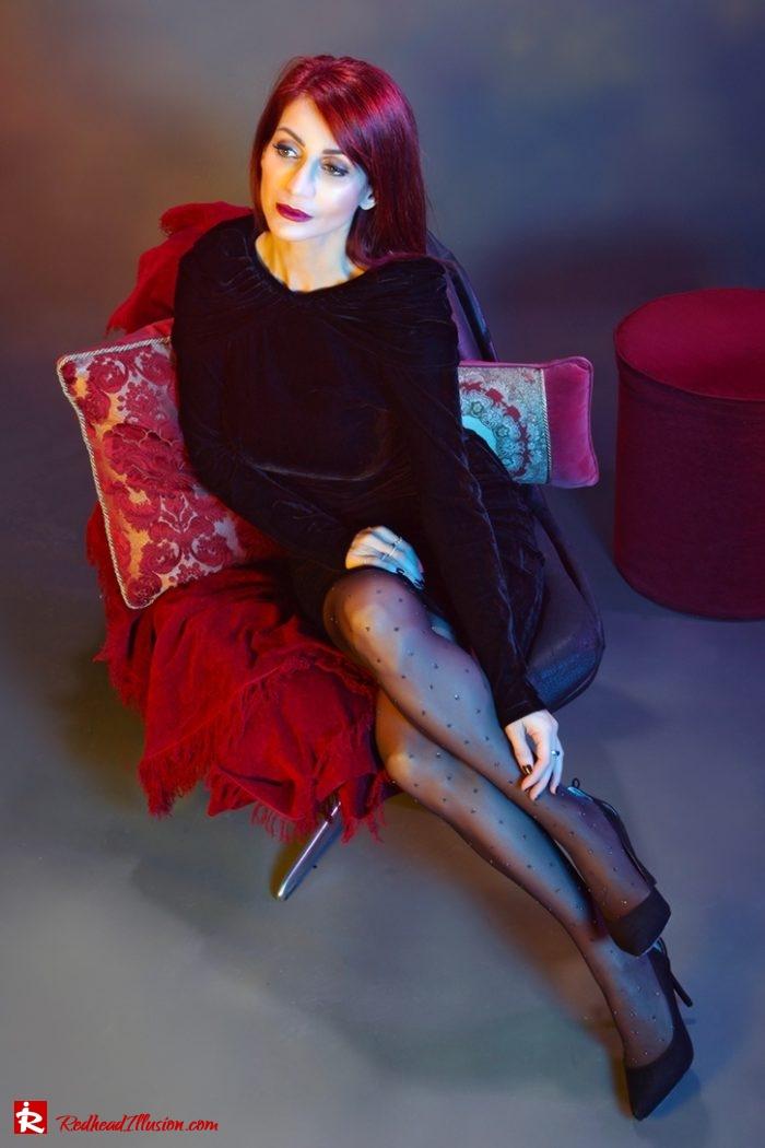 Redhead Illusion - Fashion Blog by Menia - Editorial - Festive Nights #2 - Velvet Dress-02