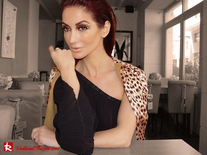 Redhead Illusion - Fashion Blog by Menia - Editorial - Golden Project - One Shoulder - Chiffon Dress-08