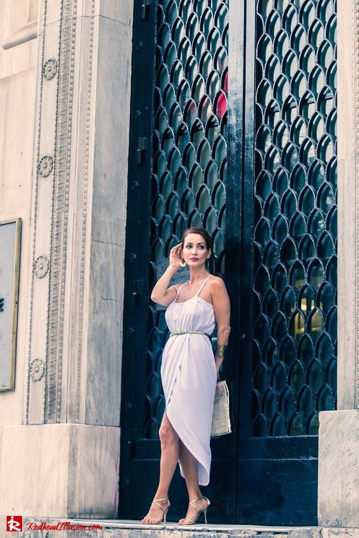 Redhead Illusion - Fashion Blog by Menia - Editorial - Grecian style - Dress-02