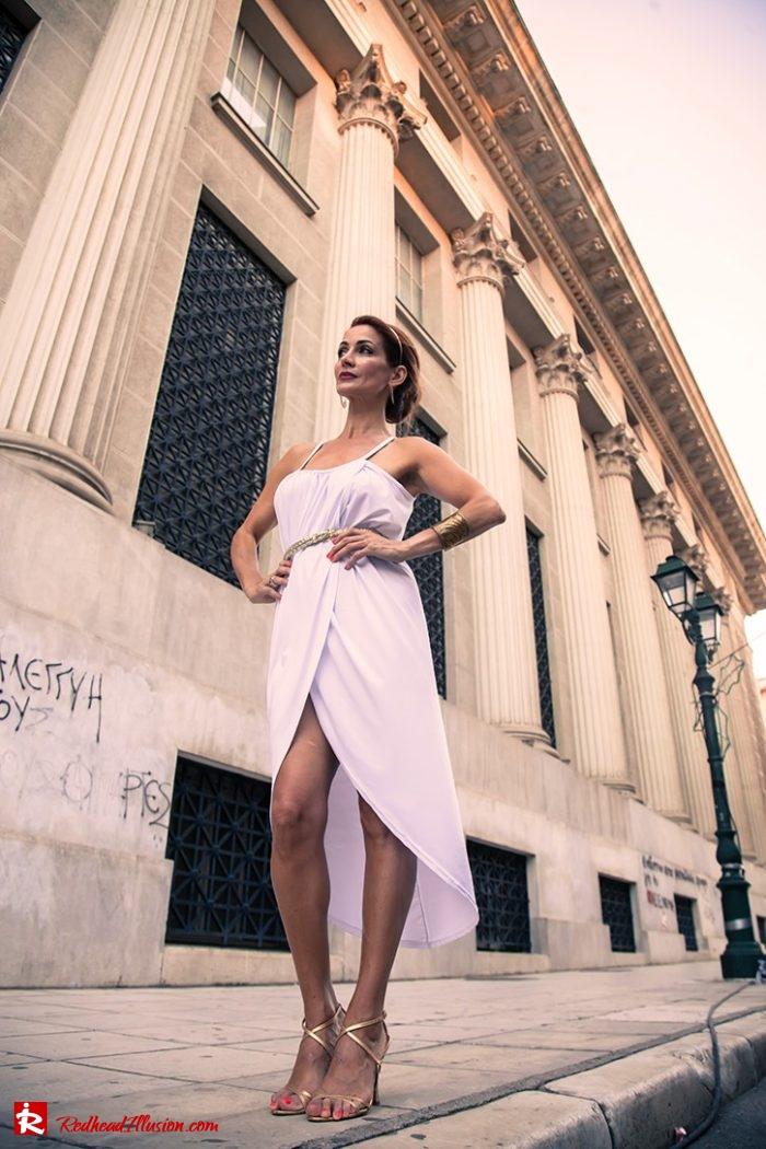 Redhead Illusion - Fashion Blog by Menia - Editorial - Grecian style - Dress-03