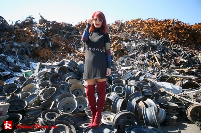 Redhead Illusion - Fashion Blog by Menia - Editorial - Layering - Denny Rose - Blouse - Over the knee Boots-04