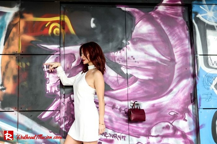 Redhead Illusion - Fashion Blog by Menia - Editorial - Mini Winter White - Mmissguided Dress-07