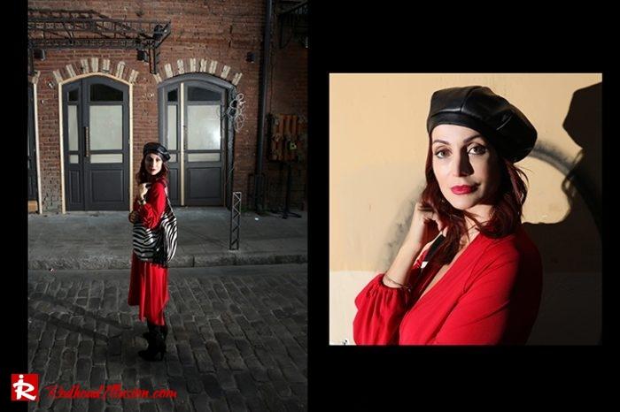 Redhead Illusion - Fashion Blog by Menia - Rouge et Noir - Dress - Otk Boots-04
