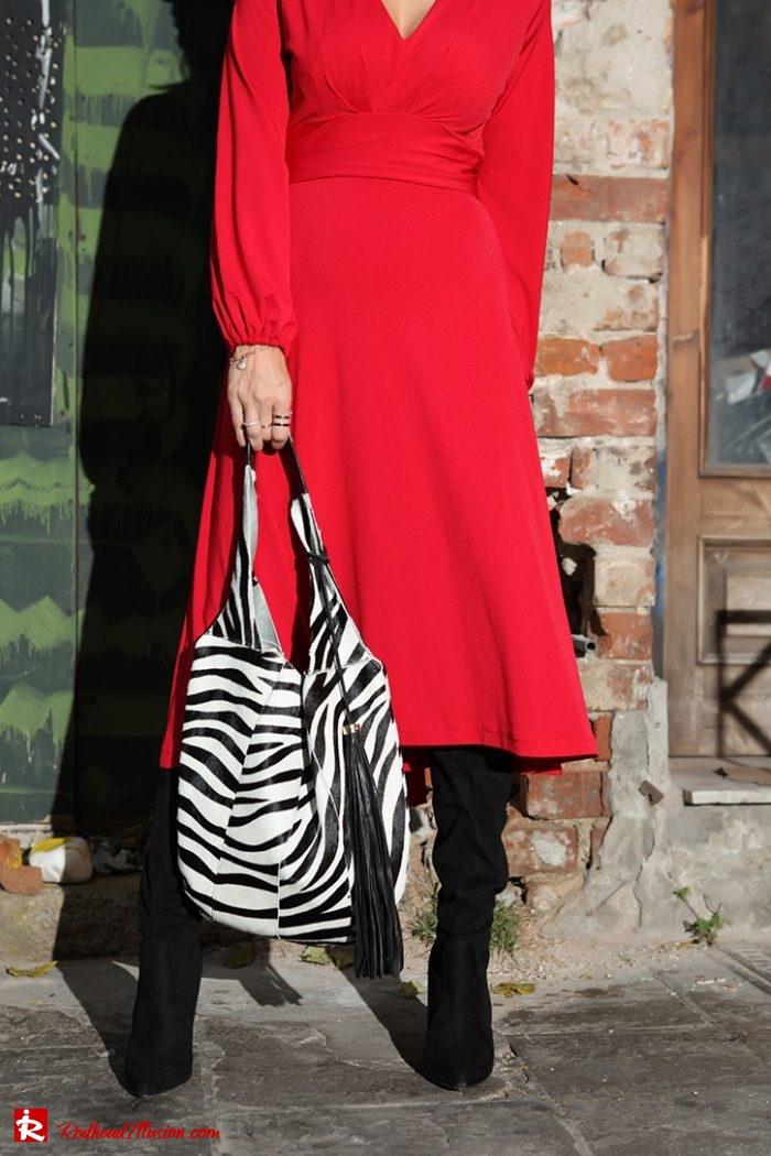 Redhead Illusion - Fashion Blog by Menia - Rouge et Noir - Dress - Otk Boots-06