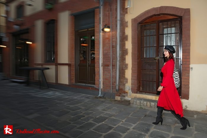 Redhead Illusion - Fashion Blog by Menia - Rouge et Noir - Dress - Otk Boots-09