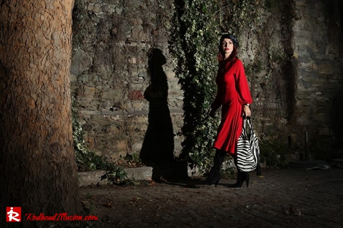 Redhead Illusion - Fashion Blog by Menia - Rouge et Noir - Dress - Otk Boots-10