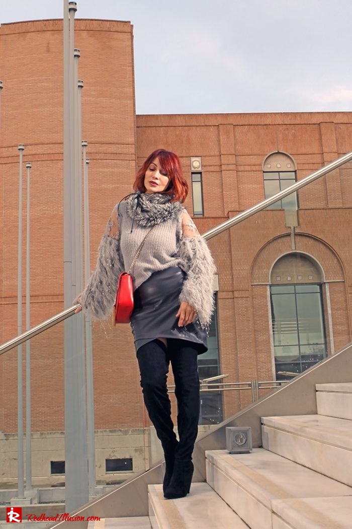 Redhead Illusion - Fashion Blog by Menia - Sophisticated Grey - Missguided - OTK Boot-02