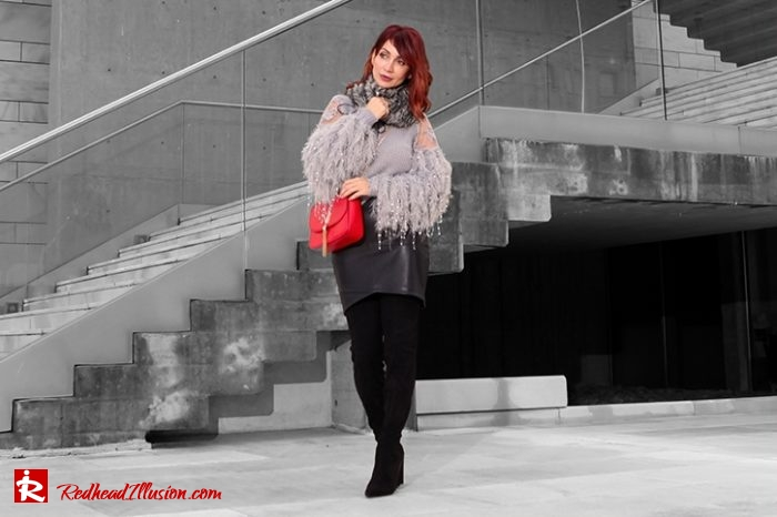 Redhead Illusion - Fashion Blog by Menia - Sophisticated Grey - Missguided - OTK Boot-04
