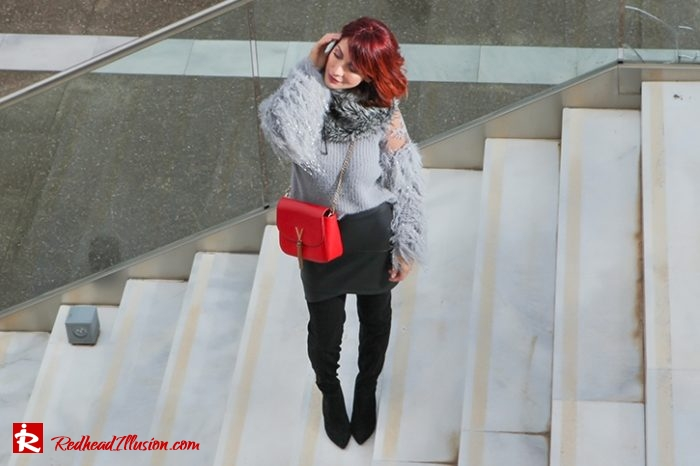 Redhead Illusion - Fashion Blog by Menia - Sophisticated Grey - Missguided OTK Boots-04a