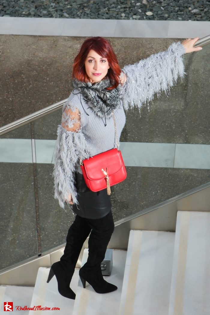 Redhead Illusion - Fashion Blog by Menia - Sophisticated Grey - Missguided OTK Boots-05a