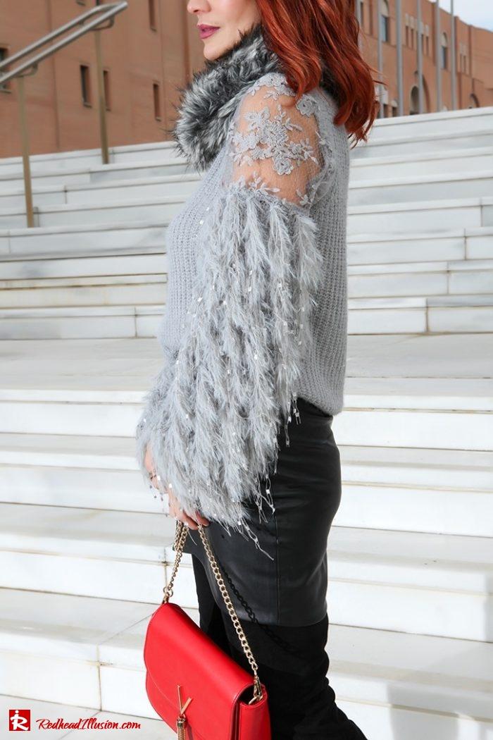 Redhead Illusion - Fashion Blog by Menia - Sophisticated Grey - Missguided OTK Boots-06a