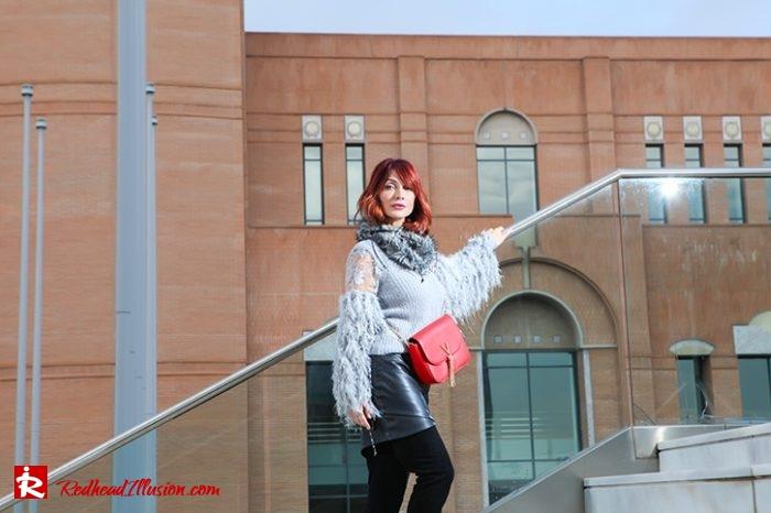 Redhead Illusion - Fashion Blog by Menia - Sophisticated Grey - Missguided OTK Boots-07a