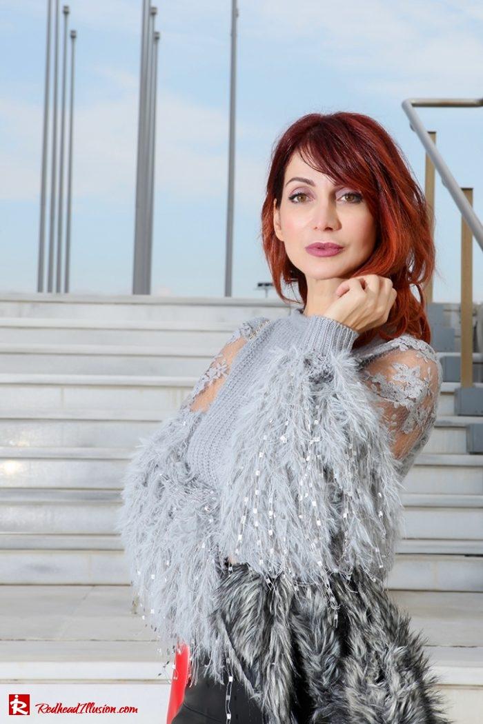 Redhead Illusion - Fashion Blog by Menia - Sophisticated Grey - Missguided OTK Boots-08a