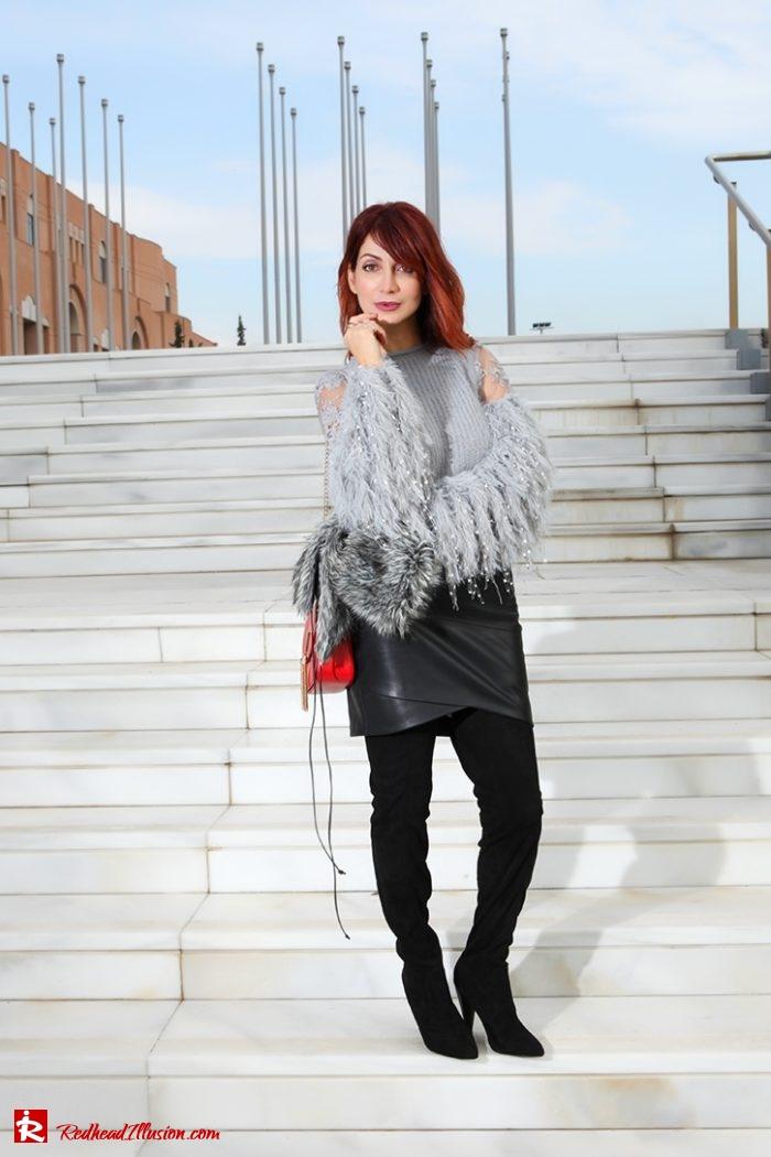 Redhead Illusion - Fashion Blog by Menia - Sophisticated Grey - Missguided OTK Boots-09a