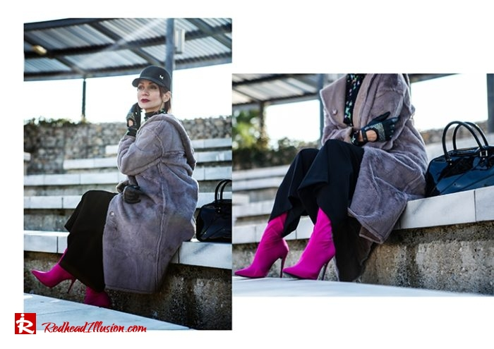 Redhead Illusion - Fashion Blog by Menia - Fuchsia touch-06