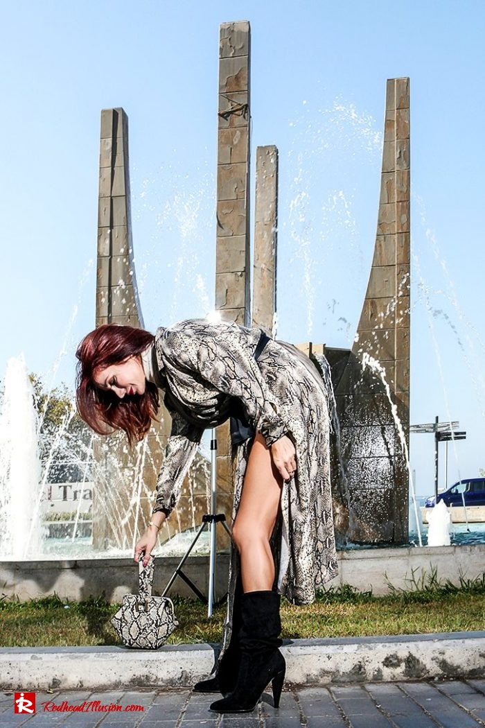 Redhead Illusion - Fashion Blog by Menia - Editorial - Snake Print Dress 70's style!-02