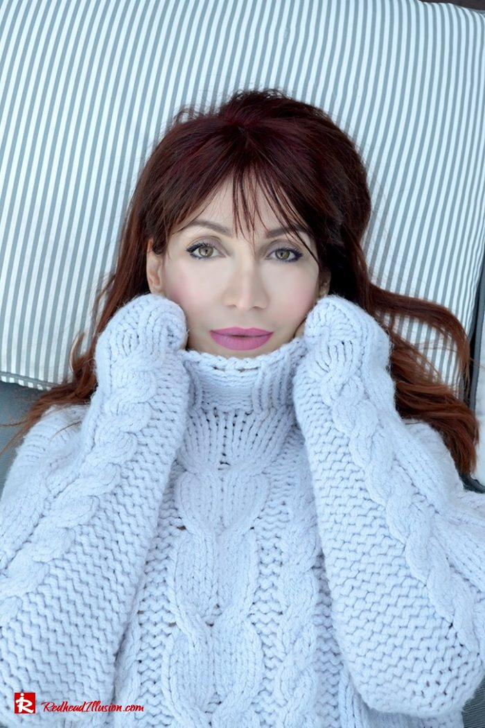 Redhead Illusion - Fashion Blog by Menia - 9 ways to wear knitted pullover-02