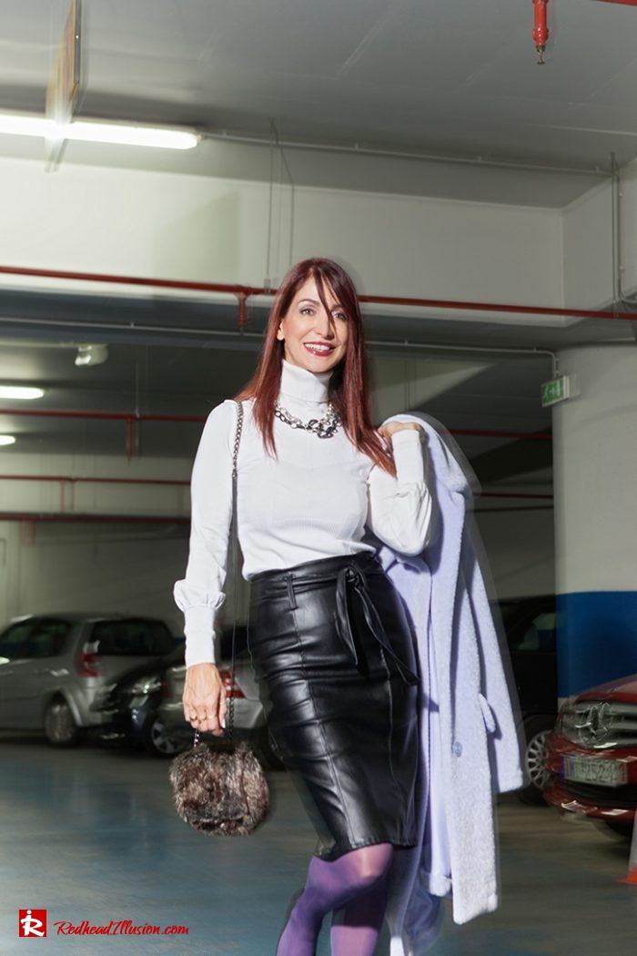 Redhead Illusion - Fashion Blog by Menia - Lavender Faux Fur Coat - Topshop-01