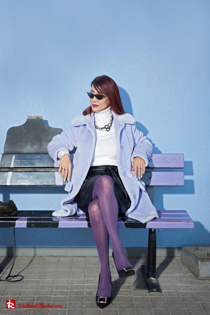 Redhead Illusion - Fashion Blog by Menia - Lavender Faux Fur Coat - Topshop-04