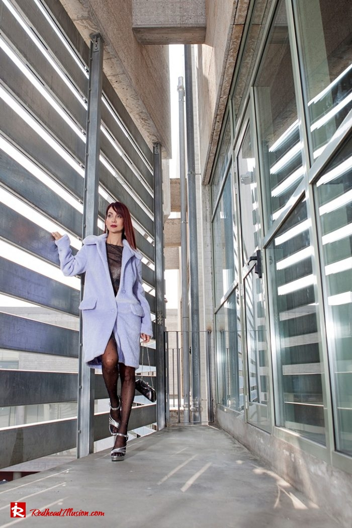 Redhead Illusion - Fashion Blog by Menia - Lavender Faux Fur Coat - Topshop-09