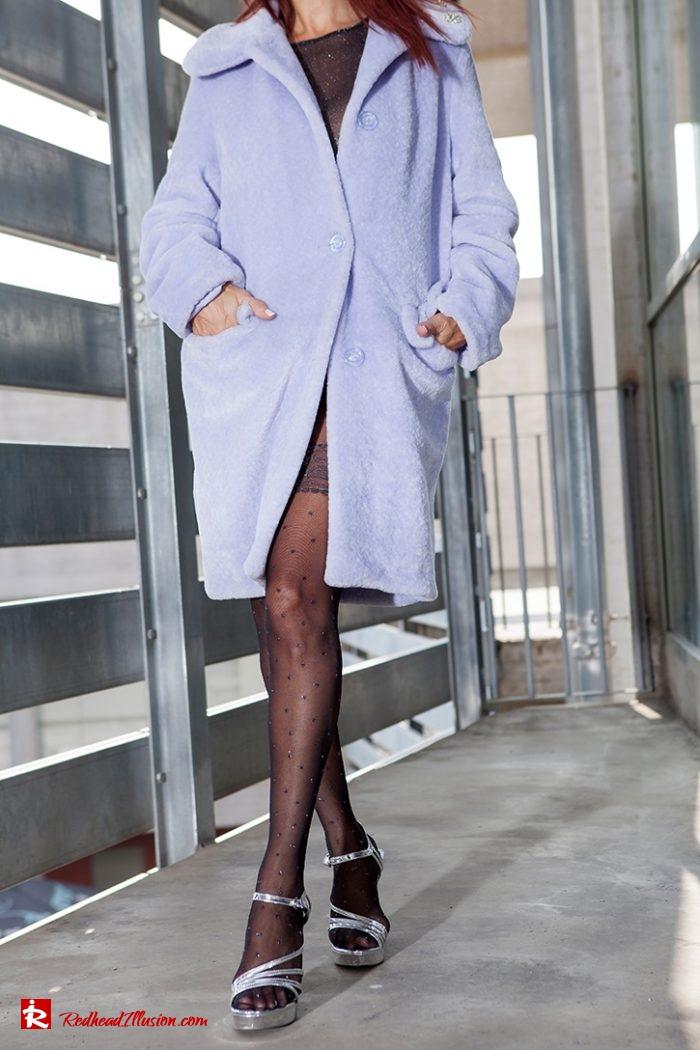 Redhead Illusion - Fashion Blog by Menia - Lavender Faux Fur Coat - Topshop-11
