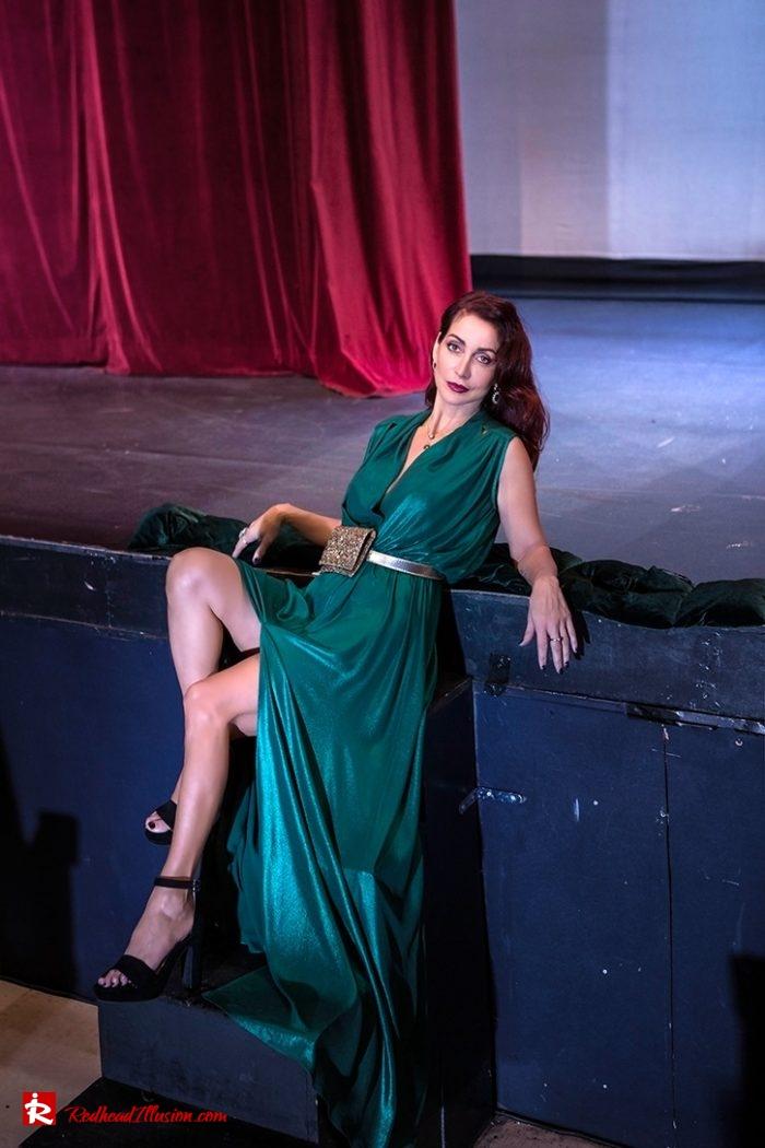 Redhead Illusion - Fashion Blog by Menia - Emerald Maxi Dress-05