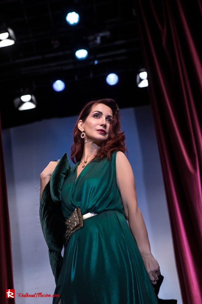 Redhead Illusion - Fashion Blog by Menia - Emerald Maxi Dress-06
