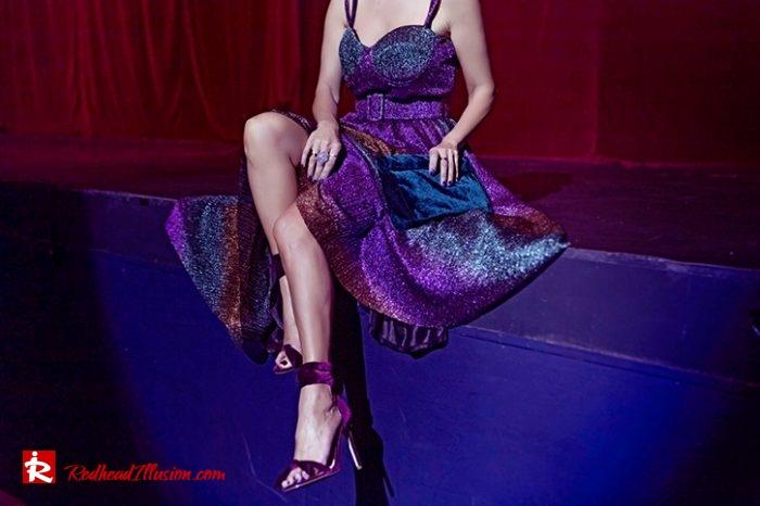 Redhead Illusion - Fashion Blog by Menia - Multicolored Lurex Ball Dress-06