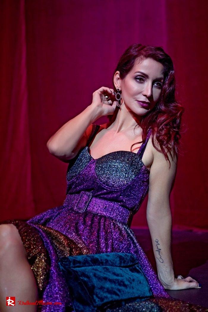 Redhead Illusion - Fashion Blog by Menia - Multicolored Lurex Ball Dress-07