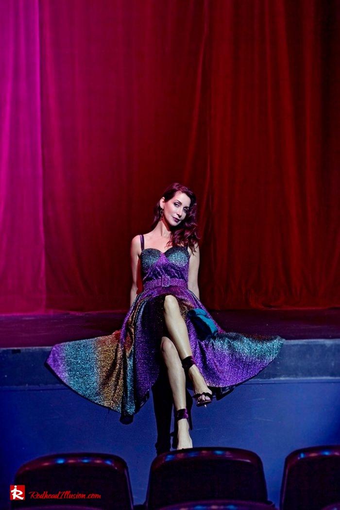 Redhead Illusion - Fashion Blog by Menia - Multicolored Lurex Ball Dress-08