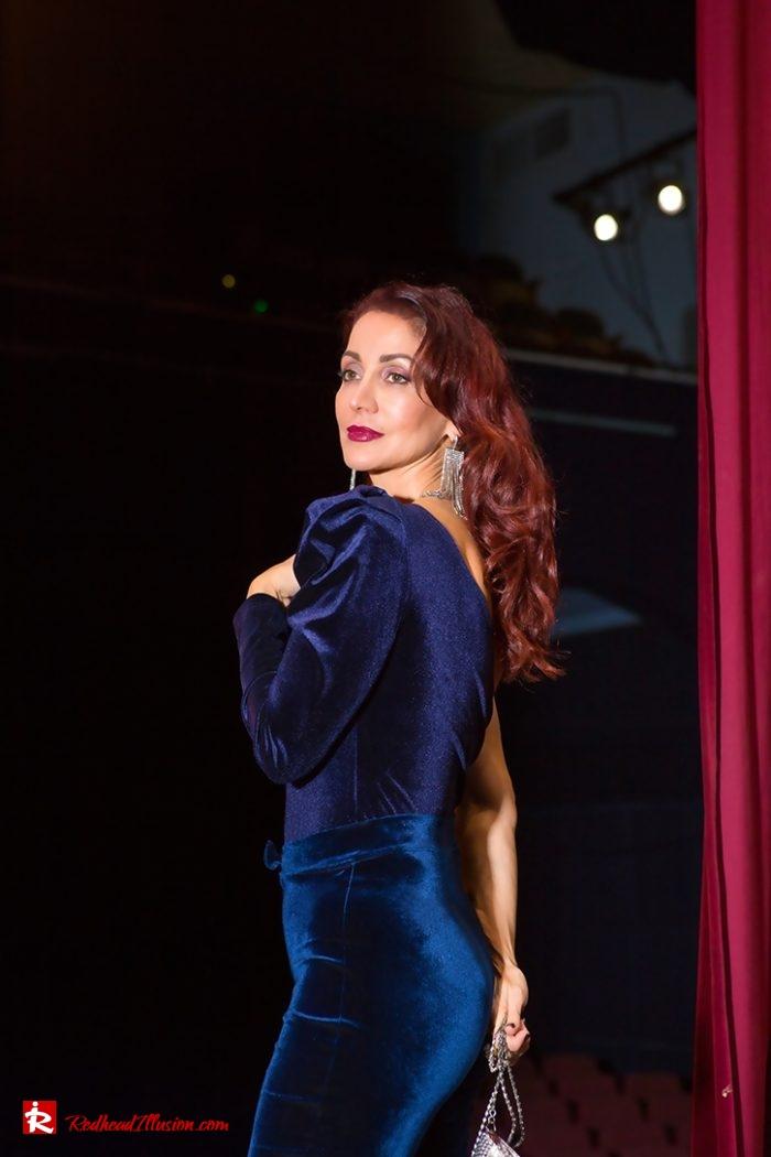 Redhead Illusion - Fashion Blog by Menia - Nights in Blue Velvet-04