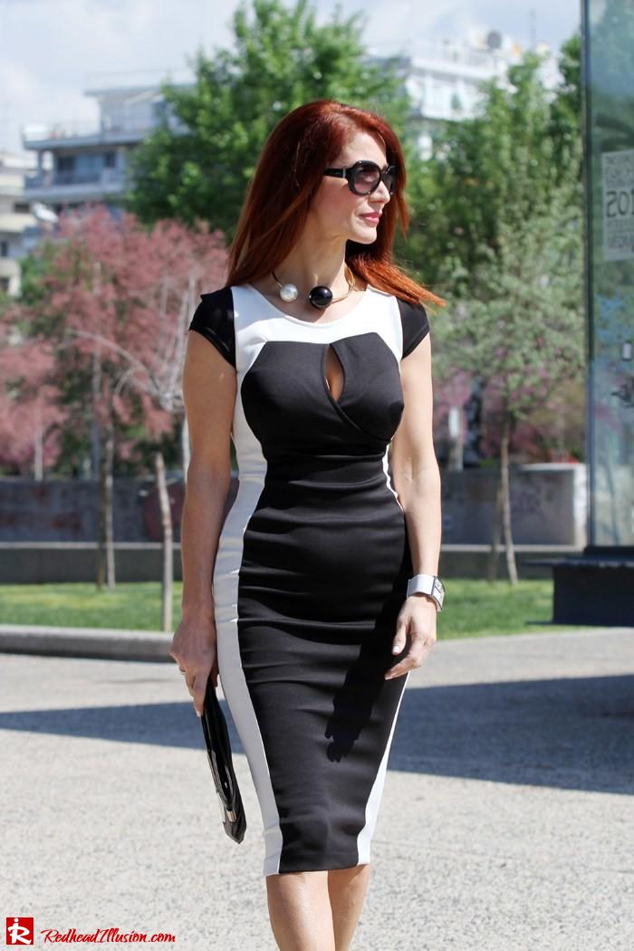 Redhead Illusion - Determined - Bodycon Midi Dress -07