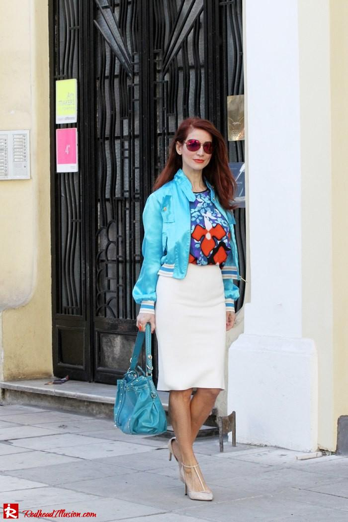 Redhead Illusion - The skirt and the bomber-03