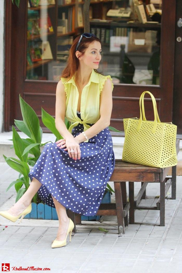 Redhead Illusion - Just a little retro - bikini top with midi skirt-06