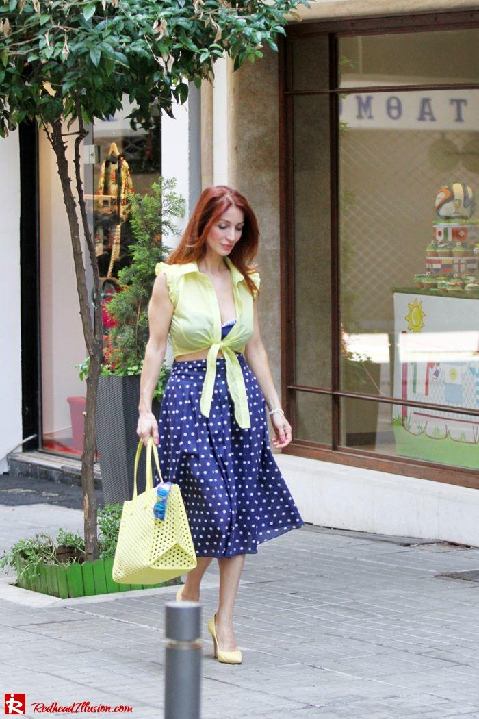 Redhead Illusion - Just a little retro - bikini top with midi skirt-08
