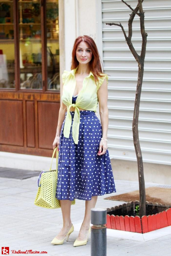Redhead Illusion - Just a little retro - bikini top with midi skirt-10