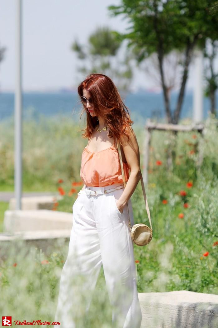Redhead Illusion - Spaghetti time - Wide leg pants with thin straps top-05