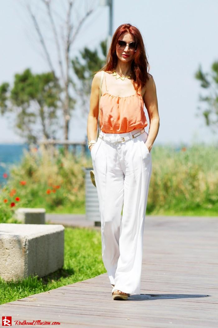 Redhead Illusion - Spaghetti time - Wide leg pants with thin straps top-10