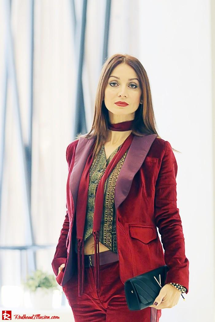 Redhead illusion - Red velvet - Altuzarra for target - Velvet Suit-04