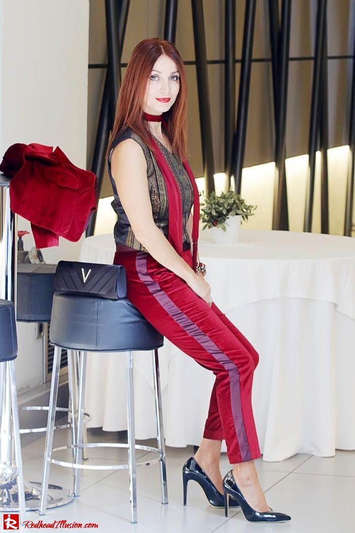 Redhead illusion - Red velvet - Altuzarra for target - Velvet Suit-08