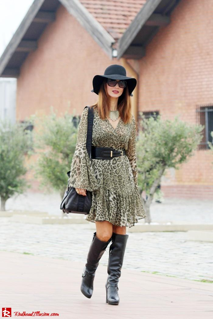 Redhead Illusion - Free Zone - Boho Style - Mix and Match Dress and Michael Kors Boots-03