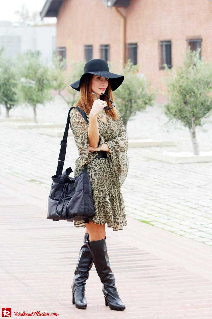 Redhead Illusion - Free Zone - Boho Style - Mix and Match Dress and Michael Kors Boots-04