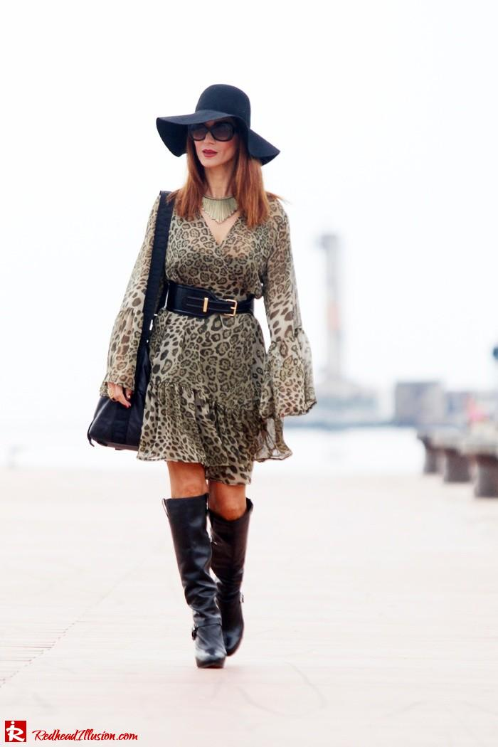 Redhead Illusion - Free Zone - Boho Style - Mix and Match Dress and Michael Kors Boots-06